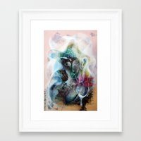 nirvana Framed Art Prints featuring Nirvana by Jongwang Lee