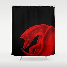 fierce dragon Shower Curtain