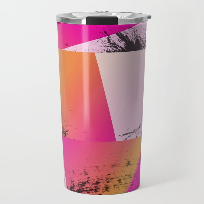 Summer Sunset Abstract Digital Collage Travel Mug