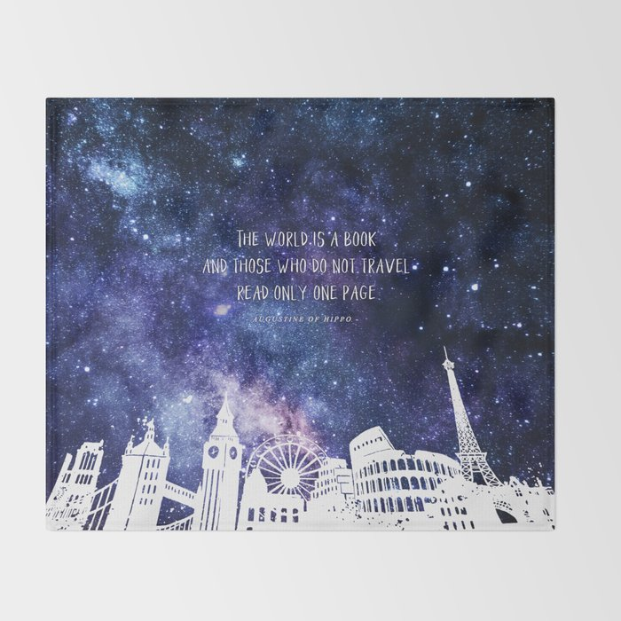 The world is a book Throw Blanket