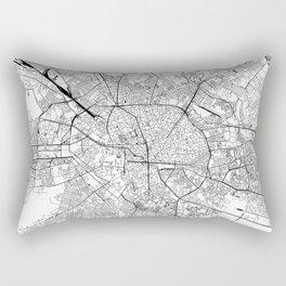 Bucharest White Map Rectangular Pillow