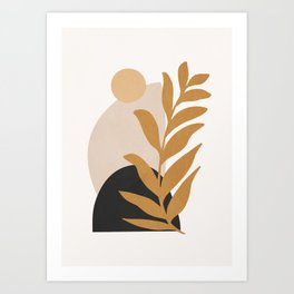 Abstract Art /Minimal Plant 11 Art Print