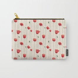 Poppies Time Carry-All Pouch