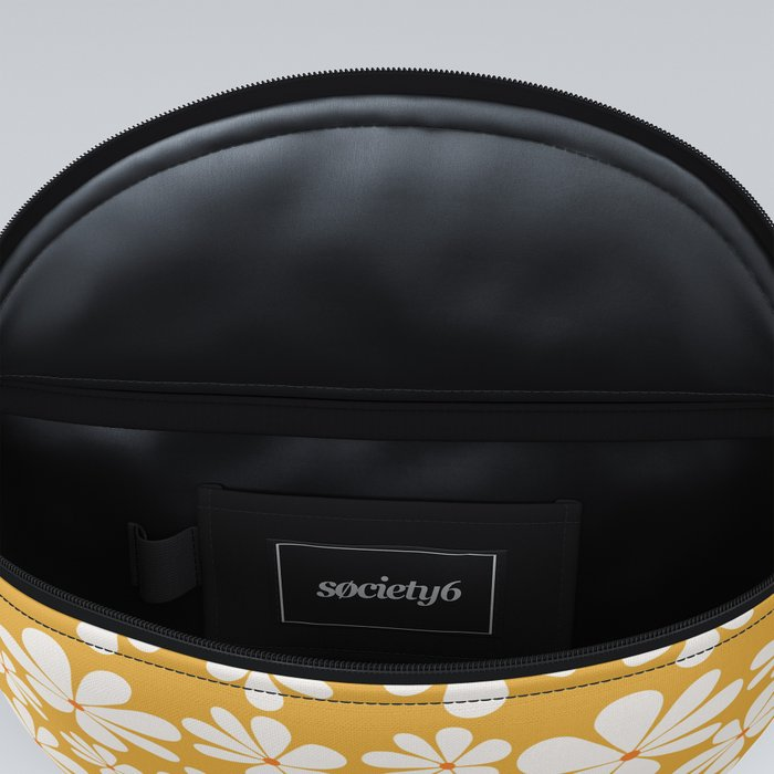 Floral Daisy Pattern - Golden Yellow Fanny Pack