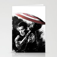 steve rogers Stationery Cards featuring Steve Rogers: Shadow Edition by NKlein Design