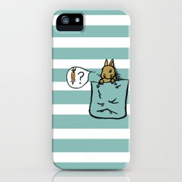 Pocket Bunny iPhone Case