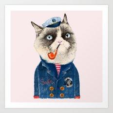 Sailor Cat VII Art Print