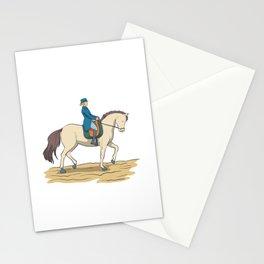 Dressage riding Stationery Cards