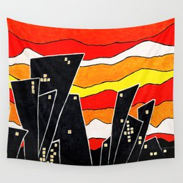 Ma ville - My city Wall Tapestry