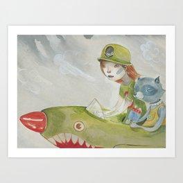 Rocket Pop Art Print
