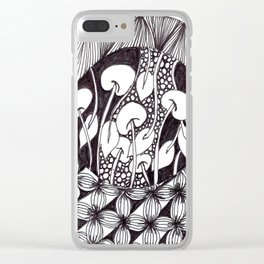 Zen Doodle Graphics zz17 Clear iPhone Case