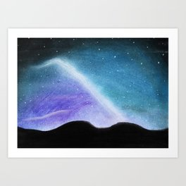 Pastel Starry Night Art Print