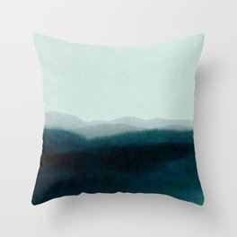 morning mist scenery Throw Pillow