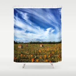 Pumpkin season is here Shower Curtain