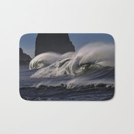 Big Pacific Surf Photograph Bath Mat