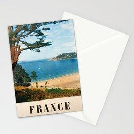 Plakat france les plages de bretagne Stationery Cards