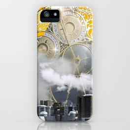 Abstract Collage City Clocks iPhone Case