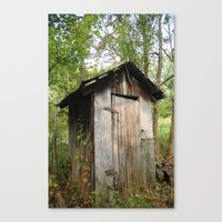 outdoor Canvas Prints featuring Outdoor toilet by jim snyders photography