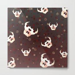 Evil Bunny Skulls Metal Print