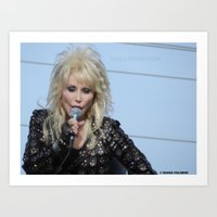 dolly parton Art Prints featuring Dolly Parton Homecoming Parade 2012 by Diana Falheim