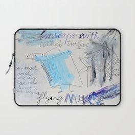 Landscape with wind turbine Laptop Sleeve