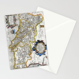 Map of the Kingdom of Portugal by Abraham Ortelius, dated 1560 Stationery Cards