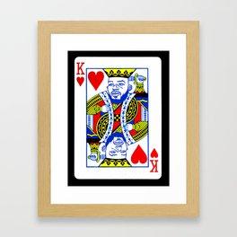 Jon Jones: Suicide King Framed Art Print