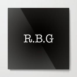 RBG - Ruth Bader Ginsburg Metal Print