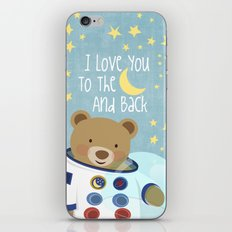 I love you to the moon and back iPhone Skin