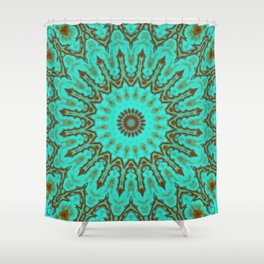 Kaleido in Oxidized Copper Shower Curtain
