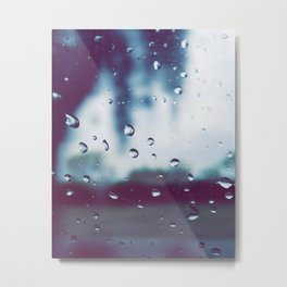 Rain drops are the earths way of crying Metal Print