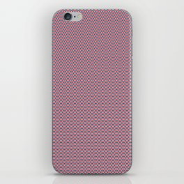 Red White and Blue Chevrons iPhone Skin