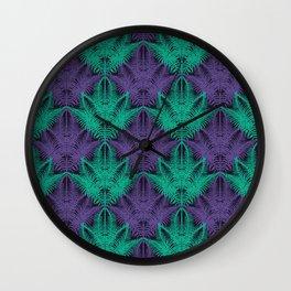 UV Jungle #society6 #ultraviolet #pattern Wall Clock