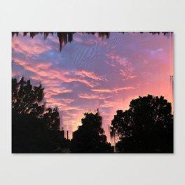 Slashed Sunset Canvas Print