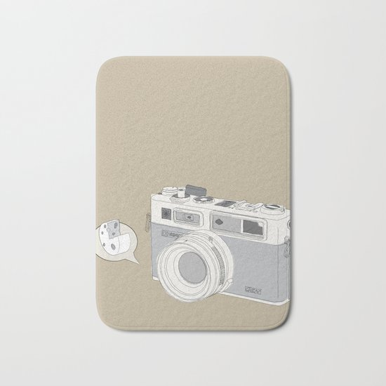 "Yashica Camera - ""Say Cheese"" - soft-brown Bath Mat"