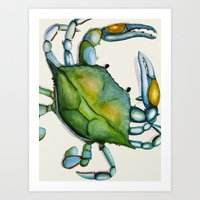 crab Art Prints featuring Crab by Dylan Morang