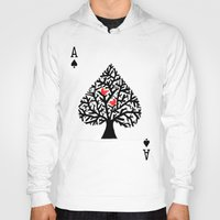ace Hoodies featuring Ace of spade by Picomodi