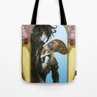 sandman Tote Bags featuring Sandman: Dream by skritters