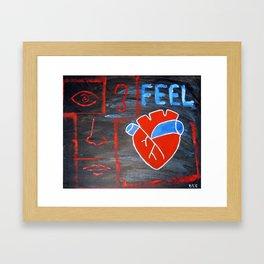 Android heart (black), 2011 Framed Art Print
