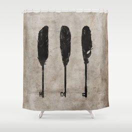 keys/ feathers Shower Curtain