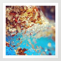Turquoise Gold Art Print