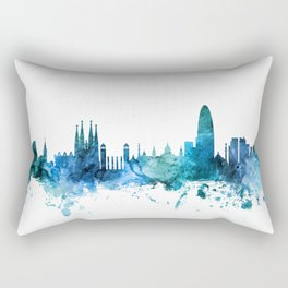 Barcelona Spain Skyline Rectangular Pillow