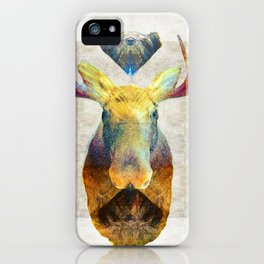 Mystic Moose Art by Sharon Cummings iPhone Case