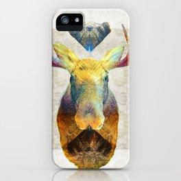 Mystic Moose Art by Sharon Cummings iPhone Case