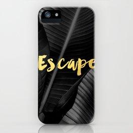 Escape - gold iPhone Case