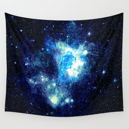 Galaxy NEbula. Teal Turquoise Blue Aqua Wall Tapestry