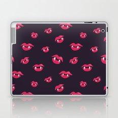 Pink Vampire Lips And Fangs Laptop & iPad Skin