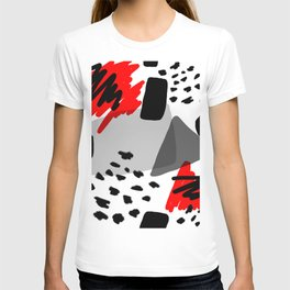 Red, White and Black T-shirt