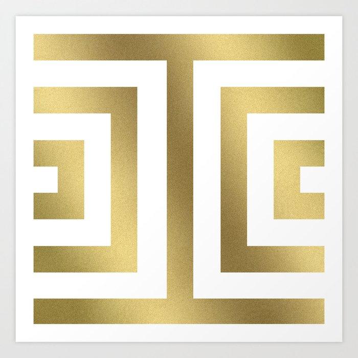 Gold Greek Stripes Kunstdrucke