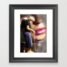 When I wore a young girls clothes Framed Art Print